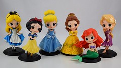 Q Posket Disney Characters 5.5 Inch Figures by Banpresto - Complete Collection (drj1828) Tags: qposket banpresto vinyl figure 6inch 55inch 2017 purchase belle cinderella deboxed alice ariel snowwhite disney character animated rapunzel