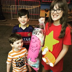 A bag of cotton candy as big as your little brother at #GroveFest.