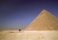 Pyramid of Khafre (robertdownie) Tags: sky landscape travel blue pyramid old tourism sand time stone desert camel egypt outdoors dry daylight giza grave timeless archaeology sandy pharaoh khafre chephren