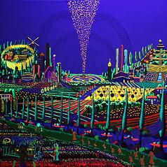 Painting in bright   glow colors Night paintings Color Phosphorescent color (iloveart106) Tags: painting bright p glow colors night paintings color phosphorescent dessin peintures de peinture fluorescente phosphorescentes lumineux coloré nuit lumière bleue violette dibujo pintura pinturas fosforescentes brillantes fluorescentes colores luz la noche azul violeta