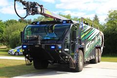 Oshkosh Striker 6x6 Airport Fire Appliance (PFB-999) Tags: oshkosh striker 6x6 axle demo demonstrator airport fire appliance engine truck vehicle unit leds rescue day 2017