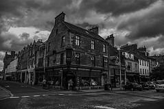 St Andrews Citizen (Brian Travelling) Tags: standrewscitizen bookshop book shop lane mono blackandwhite monochrome outdoor scotland fife kingdomoffife pentaxkr pentax pentaxdal