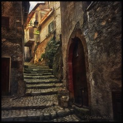 Streets of Artena. (odinvadim) Tags: mytravelgram paintfx textured textures iphone editmaster travel iphoneography sunset evening iphoneonly church painterly artist snapseed landscape photofx specialist iphoneart graphic painterlymobileart