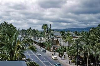 Kalakaua Waikiki Birdseye 1959