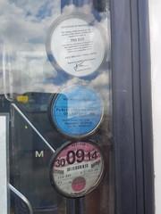 Operators and Insurance Discs (WMT6832TWM3053) Tags: wmt twm west midlands travel coventry birmingham f53 xof 3053 route 900 wheatley street garage mcw preserved bus metrobus mk2a