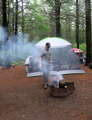 Pyro at Work (Georgie_grrl) Tags: bonecho campingtrip topw unofficialevent provincialpark beautifulnature ontario friends fire smoke smoky jerome