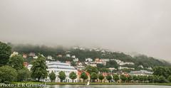 Bergen .City of Rain (2) (2000stargazer) Tags: bergen norway byparken smålungeren fløyen fog rain pond park trees canon city landscape cityscape nature