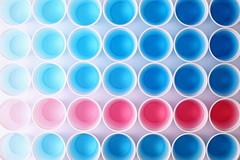 Color Gradient II (*Chris van Dolleweerd*) Tags: water liquid plastic cups blue pink colors gradient chrisvandolleweerd studio strobist abstract stilllife closeup