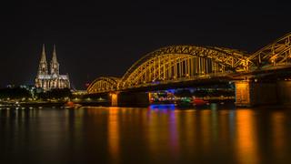 Die goldene Brücke von Köln - The golden bridge of cologne