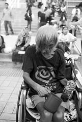 The last survival skill , Tsim Sha Tsui, Hong Kong (Job Homeless) Tags: people portrait leica life living monochorme monotone m8 blackandwhite bw summicronm35mmf2asph