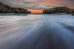 Low view angle sunset (Koldobika Arriaga) Tags: sea seascape landscape sunset sunrise beach sky longexposure water mar paisaje playa marea atardecer amanecer color ilunsentia egunsentia paisajea itxasoa