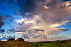 Double Rainbow Beach Sunset (Adam Kyle Jackson) Tags: beach beaches galveston houston texas gulfcoast gulfofmexico rainbow rainbows doubleraindbow thunderstorm storms weather rain raining bluesky evening dusk dawn sunsets sunset sunrise landscapes landscape landscapephotography