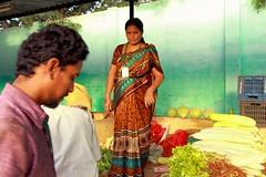Farmers market (Rajavelu1) Tags: farmersmarket lady colours vegetables people streetphotography art creative canon60d ladyfarmer india