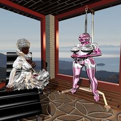 A beautiful view (bigbertha666) Tags: mask corset poser fetish rubber sissy spielzeug sextoys gloves lack plastic fetishfashion gage ringgage maid maskedface bondage