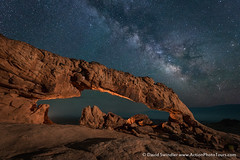 Return to Sunset Arch (David Swindler (ActionPhotoTours.com)) Tags: night utah lowlevellighting stars grandstaircase grandescalante sunsetarch nightscape escalante milkyway