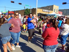 Everyone does the chicken dance . . . (ali eminov) Tags: wayne nebraska celebrations waynechickenshow dancers dances chickendance