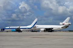 Eastern - Kelowana Duo (Nelson Acosta Spotterimages) Tags: dc10 trijet douglas mcdonneldouglas airplane jet sky airport miami boeing737