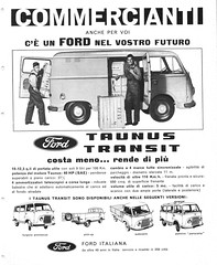 1963 Ford Taunus Transit (Italy) (aldenjewell) Tags: 1963 ford taunus transit commercial van truck italiana italy germany ad traders