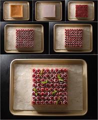 Lignac Raspberry Tart, assemblying (Pitzpootzim) Tags: cyrillignac patisserie pastry pie tart french raspberry mascarpone fruity