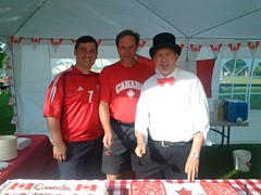 Celebrating Canada Day in Glen Williams with Wellington-Halton Hills MPP Ted Arnott and Halton Hills Mayor Rick Bonnette