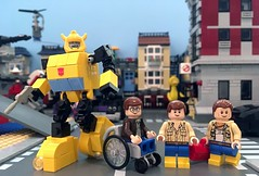 New Pieces! (Hobbestimus) Tags: lego kreo transformers bumblebee chipchase spike sparkplug witwicky generationone g1 toys cartoon 80s moc
