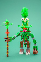 Monster with bush on top (Milan Sekiz) Tags: lego green monster character bush plants
