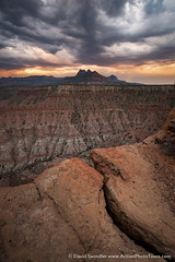 Ominous Clouds (David Swindler (ActionPhotoTours.com)) Tags: ominous utah monsoon zionnationalpark sunset zion clouds