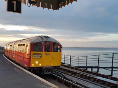 Isle of Wight Railway 1938 stock ex London Underground Ryde Pier (focus- transport) Tags: isle wight railway tdl 564k mendip mule southern vectis svoc bristol rell ecw london underground 1938 stock ng 1109 reo safety bus herbert taylor brading ryde freshwater culver down luccombe shanklin