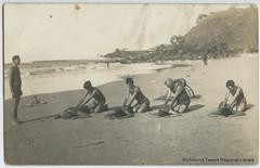Essie Dooley and others, Byron Bay Beach c1920s (RTRL) Tags: byronbay surflifesaving surfclub surflifesavingcarnival