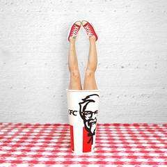 Chicken Legs (YetAnotherLisa) Tags: self portait selfie selfportrait picnic legs chucks converse kfc chicken red cup fast food fastfood