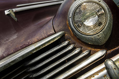 Hudson (ISP Bruno Laplante) Tags: 1947 hudson commodore 8 old car rust chrome headlight light decay bugs grill vintage truck pickup
