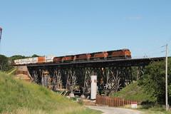 BNSF 6500 (CC 8039) Tags: bnsf trains es44ac ac44cw trestle bridge media illinois