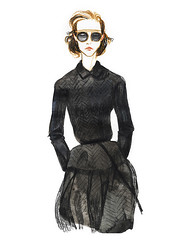 Fashion illustration Christian Dior Paris FW couture fall 2017 by Alexandra Gritz (AGartist) Tags: christiandior couture fashionart fashionillustration fineart artdirection watercolor