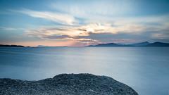 Coucher de soleil sur la baie de Giens (Pierre Villanti) Tags: couchédesoleil giens hyères leefilters méditerranée paysage poselongue presquiledegiens sunset landscape var france