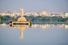 Peace (Nitin_Paul) Tags: buddha gautambuddha hyderabad telangana reflections reflection water tankbund buildings city cityscape nikon nikond90 nitin paul photography nitinpaulphotography