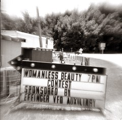 Womanless Beauty Contest (efo) Tags: bw rapid film agfa isoflashrapid flippedlens virginia effinger beautycontest rural