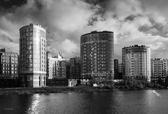 City (VladimirTro) Tags: russia saintpetersburg city clouds sky river canon europe bw monochrome water building reflection россия санктпетербург outdoor 500d architecture cityscape waterscape eos dslr photo photography 24mm монохром небо облако здание дом вода архитектура