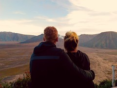 Mount Bromo and surroundings, 8th pics...The Lovers. (Alvin Gunawan) Tags: lovers mountainlandscape lovelyscene beautifullandscape beautifulview bromotour mountbromo lovelycouple landscapephotography naturelovers volcanoview volcano romanticscene