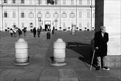Torino 0465 (malko59) Tags: torino turin italia italy biancoenero blackandwhite street urban piazzacastello
