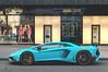 Unusual (Beyond Speed) Tags: lamborghini aventador sv superveloce supercar supercars car cars carspotting nikon v12 london knightsbridge blue spoiler automotive automobili auto lp7504