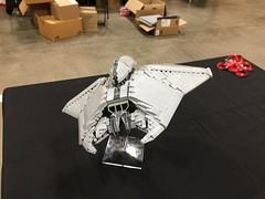 LEGO ID4 Independence Day fighter - BrickWorld Chicago 2017 (aaron.fiskum) Tags: legofreaks legospace lego id4 indepenedence day space scifi science fiction alienfighter alien fighter