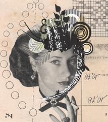 june 20th, 2017 (kurberry) Tags: collage collageaday analoguecollage vintageephemera hat