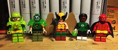 Just DC Things (LordAllo) Tags: lego dc justice league atomicman atomic skull hawkgirl green lantern jon stewart red tornado