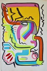 When The Shaman sings (MATLAKAS) Tags: matlakas shaman contemporaryart paint contemporary painter loveshaman fluteflute victory victoryhealing healingart healing shamanart saatchi matlakasart london art ny