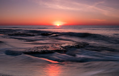 Sunrise on the rocks (Matt Williams Gallery) Tags: mattwilliamsphotography nikon d500 beach coquinarocks fortfisher water ocean wave waves rocks sunrise sun sky landscape landscapephotography nature naturephotography northcarolina northcarolinaphotographer coast nccoast reflection glow