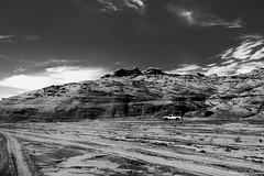Arizona Landscape (Joy Forever) Tags: usa blackwhite blackandwhite anseladamsinspired arizona antelopecanyon rockformations