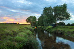 Beverley Brook (Leigh Cousins RAW) Tags: richmond richmondpark sunset beverleybrook river stream water reflections tree landscape