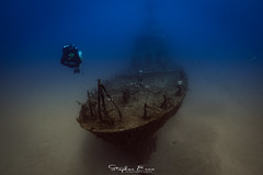 Wreck Diver (InShot Images) Tags: stephenennisphotography inshotimages underwaterphotography underwater shipwreck scubadiving diving mediterraneansea malta canon ikelite diver water ship travel