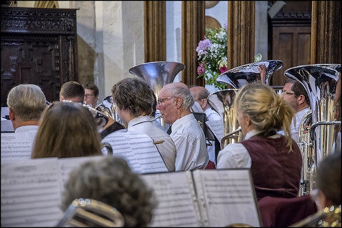 Euphoniums and Baritones.  Photo courtesy of Clive Sutton.