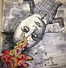 Humpty (Flamenco Sun) Tags: egg smashing child nurseryrhyme odd drawing notebook sketch psychedelic weird humptydumpty